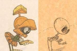 Cartoon Skeleton Sketches