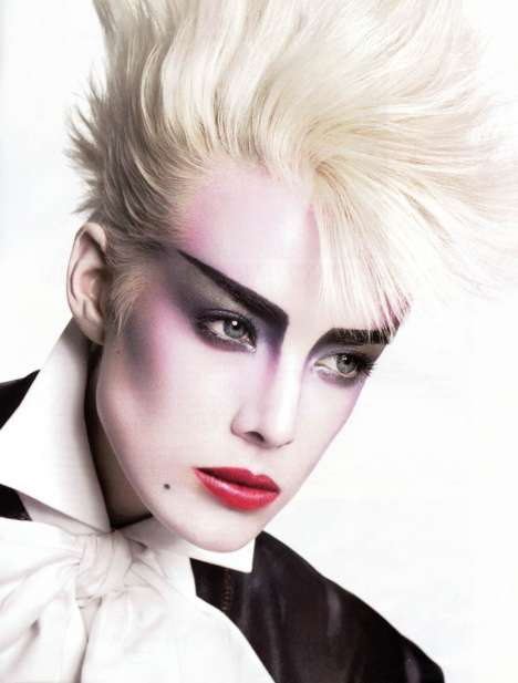 80s Rocker-Chic Couture - Agyness Deyn in French Vogue