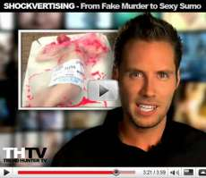 Shockvertising - Fake Murder, Sexy Sumo, Angelina Jolie and Halloween