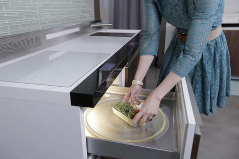Condensed Culinary Spaces - The GE Micro-Kitchen Concept is Made with Tiny Homes in Mind