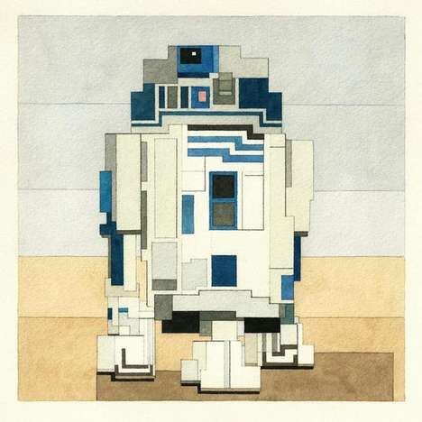 Pixelated Sci-Fi Portraits - Adam Lister