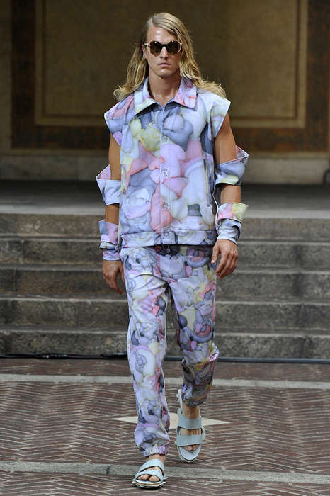 Eccentrically Patterned Menswear - The Julian Zigerli Spring/Summer 2015 Collection is Artfully Bold