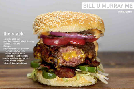 Matrimonial Comedian Cheeseburgers - The Bill U Murray Me Burger Humorously Commemorates the Actor