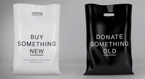 Reversible Retail Bags - The Eco-Freindly Rag Bag Gives Customers the Chance to Donate Old Clothes
