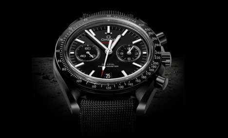 Precision Lunar Chronographs - The Omega Speedmaster Dark Side of the Moon Honors Apollo 8