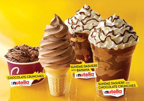 Chocolate Spread Ice Cream - Carvel is Launching a Line of Nutella Ice Cream Treats