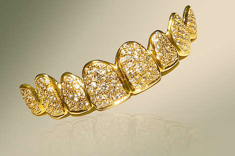 Gilded Tooth Accessories - The Dubai Liberty Dental Clinic's Golden Grill Costs a Whopping $153,000