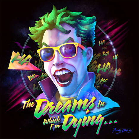Villainous Album Cover Art - These 80s-Inspired Illustrations by Rocky Davies are Visually Bold