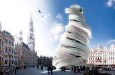 Monumental Loop Structures - The European Spiral by MADEOFFICE Architects is Visually Conceptual