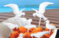 Seagull Party Skewers - Dinner Guests Will Swarm Your Dining Table with These Seagull Picks