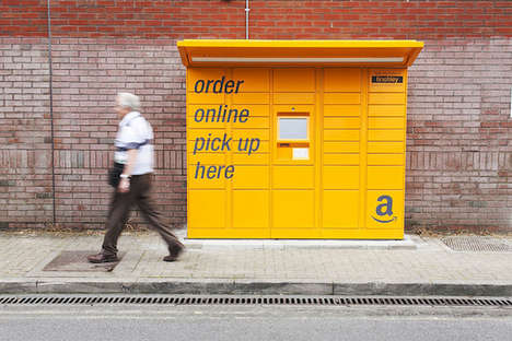 Web Shopping Drop Boxes - Click-and-Collect Stations Help to Make Amazon Delivery More Convenient