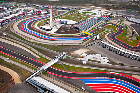 Aerial Racetrack Photography - This Racing Circuit Photo Series Looks Artistic When Seen from Above