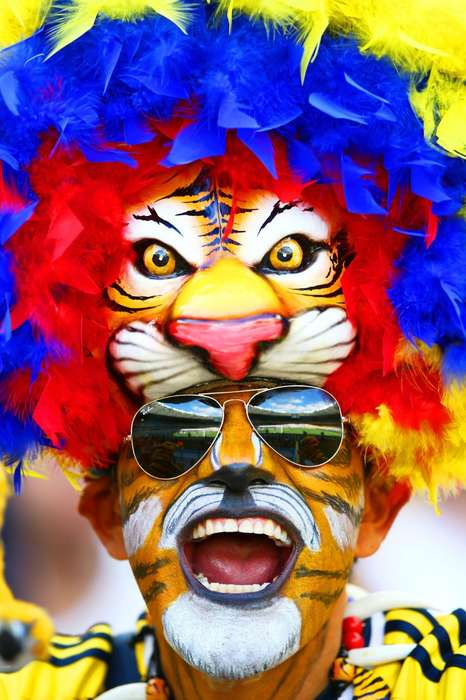 Exuberant Soccer Fan Ensembles - Vogue Counts Down the Best and Most Outrageous in World Cup Style