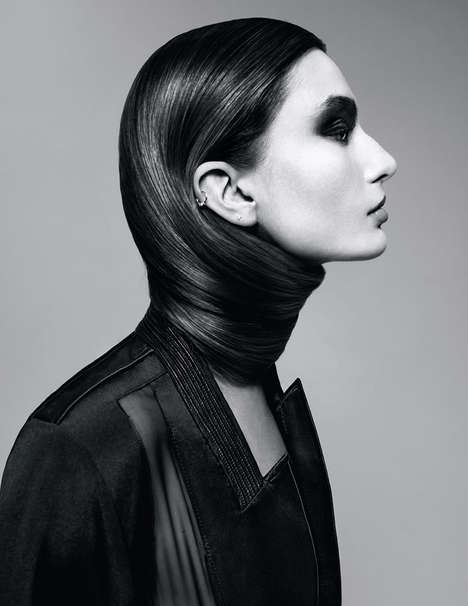 Haute Hair Wrap Editorials - The Intermission Magazine Spring/Summer 2014 Diaconu Shoot is Coiffed