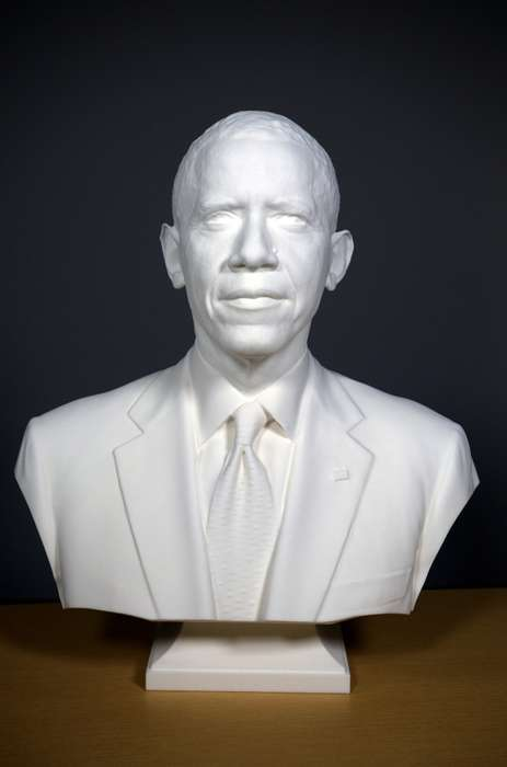 3D Presidential Portraits - This 3D Obama Bust Marks the First Time a President Has Been 3D Scanned