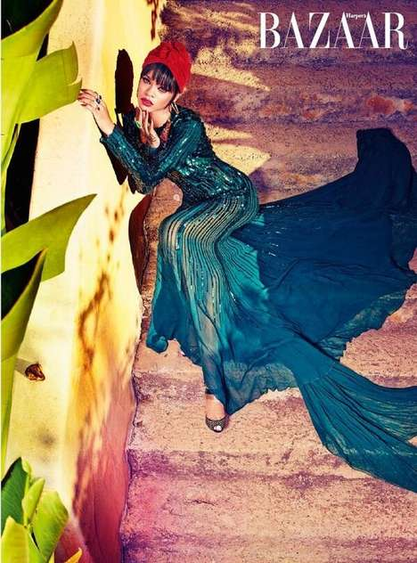 Exotic Pop Star Editorials - The Harper's Bazaar Arabia July 2014 Cover Shoot Stars Rihanna