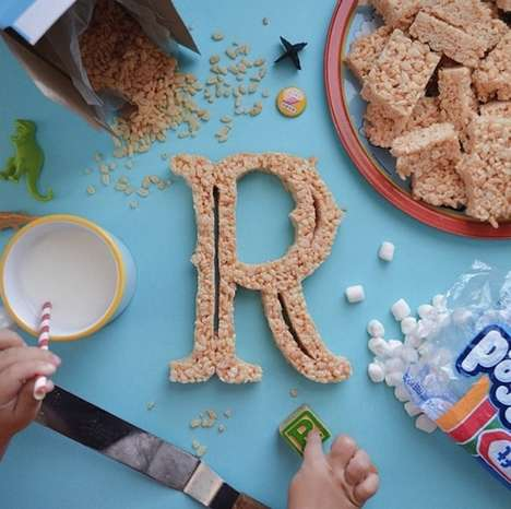 Sweet Treat Typography - Tommy Perez Teaches His Daughter the Alphabet Through Edible Type