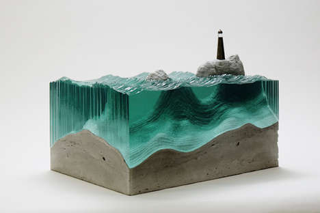 Watery Glass Sculptures - Artist Ben Young Creates Stunningly Realistic Ocean Waves