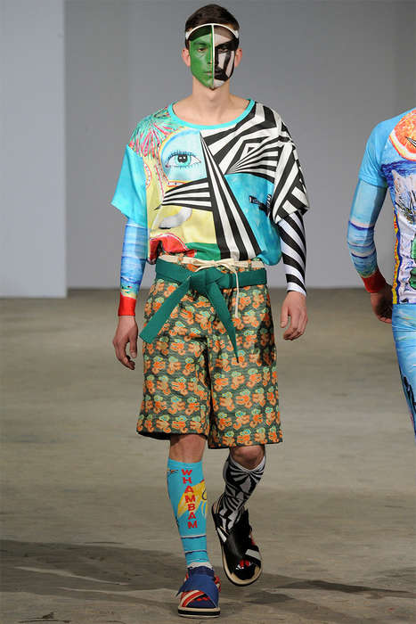 Conceptual Art School Runways - The Walter Van Beirendonck Spring/Summer 2015 Collection is Eclectic