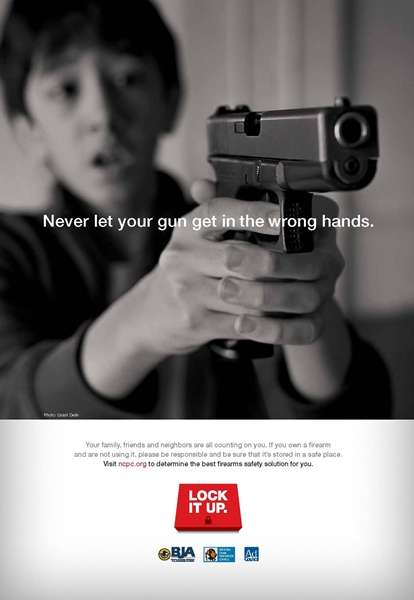 Parent-Guilting Firearm PSAs - This NCPC Gun Safety Ad Features Kids Telling Parents to 'Lock It Up'