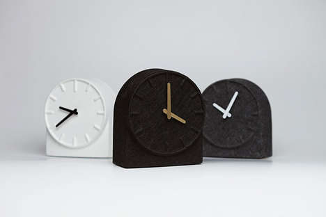 Soft Alarm Clocks - FeltTwo by Sebastian Herkner is Minimalist and Textured