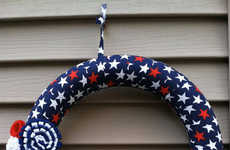 Patriotic Door Decor - This Handmade Wreath from Etsy Celebrates the 4th of July