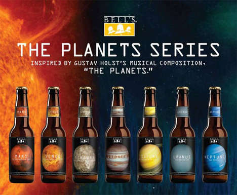 Planetary Beer Branding - Bell's Brewery Created a Line of Beers That are Out of This World