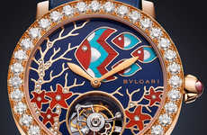 Luxury Seascape Watches - Bulgari's Il Giardino Marino Timepiece Takes Inspiration from the Sea