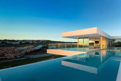 Contemporary Cliffside Abodes - This Modern Hillside Villa is Stunningly Minimalist