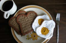 Crochet Breakfast Coasters