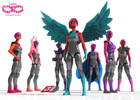 Positive Female Action Figures - IAmElemental Action Figures Boast Strong Quads Not Big Breasts