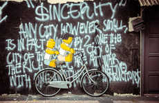 Object-Dependent Graffiti - Ernest Zacharevic's Unique Street Art Plays with Surrounding Objects