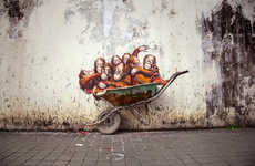 100 Street Art Mural Innovations - From Paper Glider Graffiti to Trash-Pack Street Paintings