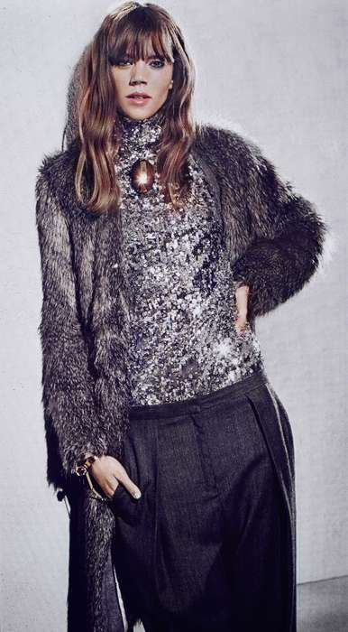 Pixelated Grayscale Lookbooks - Freja Beha Stars in the By Malene Birger Fall/Winter 2014 Campaign