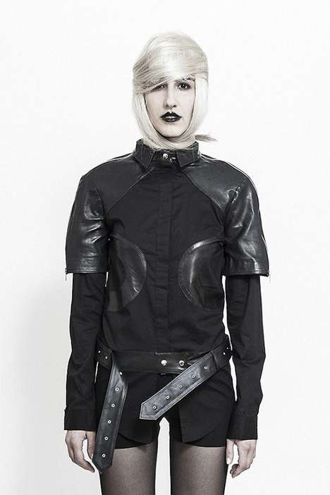 Futuristic Goth Lookbooks - The BLACK'D Fall/Winter 2014/2015 Collection is Darkly Demure