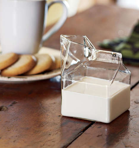 Glass Milk Cartons - This Transparent Carton Renders a Disposable Milk Carton Reusable