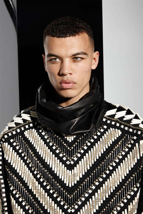 Ethnically Militant Menswear - The Balmain Spring/Summer 2015 Collection is Luxuriously Accented