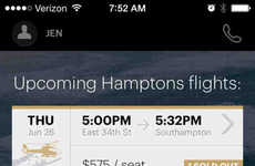 Crowdsourced Helicopter Ride Apps - The Blade App Crowdsources Rides by Helicopter to the Hamptons