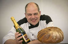 Gold-Infused Breads - Chef Robert Didie's Golden Bread is Made with Champagne and Gold Flakes