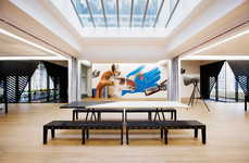 Modern Gallery Workspaces - The Superheroes Offices by Simon Bush-King Architecture and Urbanism