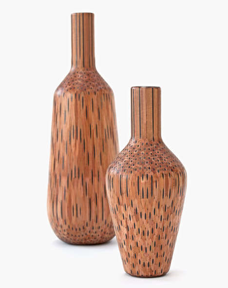 Layered Pencil Vases - These Creative and Crafty Vases are Made Using Pencils