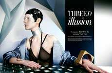 Futuristic Glam Editorials - The Fashion Gone Rogue 'Three D Illusion' Photoshoot Stars Melinda