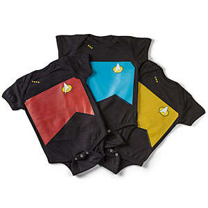 Galactic Baby Bodysuits - These Star Trek TNG Baby Onesies are Perfect for Geeky Babies