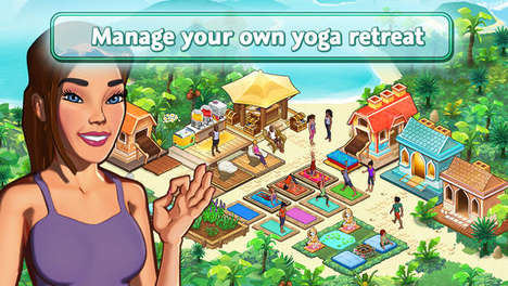 Wellness Retreat Simulation Games - The Yoga Retreat Game App Provides Real World Wellness Tips