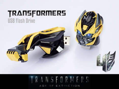 Movie Robot Flash Drives - The Transformers Age of Extinction USB Flash Drive Celebrates the Movie