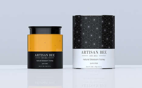 Honey Product Packaging - Artisan Bee Honey Products Have Upscale, Timeless Packaging