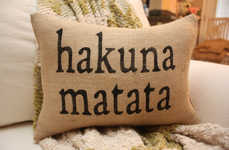 Carefree Cinematic Cushions - These Lion King Hakuna Matata Pillows Remind You Not to Worry
