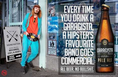 Hipster-Opposing Brew Branding - This Funny Anti-Hipster Beer Ad Campaign is for Garagista Beer Co.