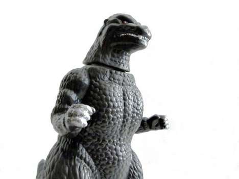 Monstrous Japanese Liquors - This Godzilla Shochu Alchohol was Designed by Konishi Breawing Company