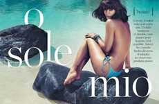 The ELLE France 'O Sole Mio' Photoshoot Stars Helena Christensen